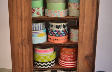 Loving…washi tape storage