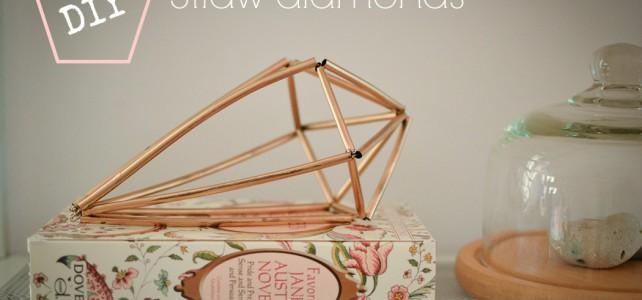 Loving…straw diamonds {crafty fun}