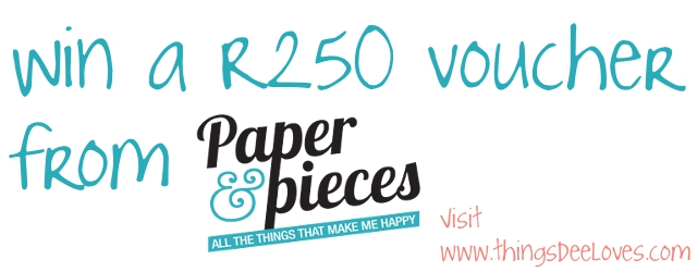 Loving… Paper & Pieces {giveaway time}