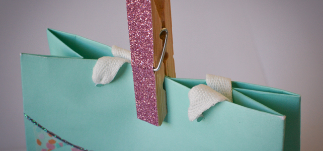 Loving…glitter pegs {Cotton Candi colab part 2}