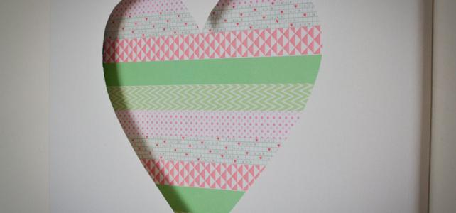 Loving…washi tape art {Cotton Candi colab part 1}