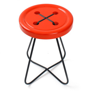 CHURCH_button_stool_red_grande