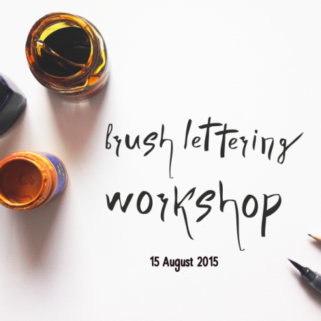 Brush Lettering workshop @ I love my laundry | Cape Town | Western Cape | South Africa